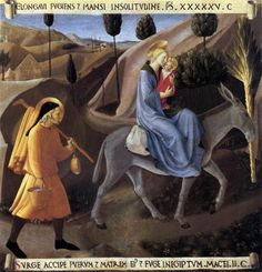 Flight into Egypt by ANGELICO, Fra #art