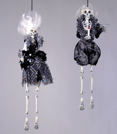 $40 Hollywood Skeleton Rock Stars from The Holiday Barn