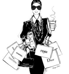 Sunday Christmas Rush Latte on the Run. Donr forget to your order? Image by Megan Hess Illustration Megan Hess Illustration, Fashion Illustration Sketches, Fashion Design Sketches, Illustrations, Kerrie Hess, Parfum Chanel, Dior, Fashion Wallpaper, Fashion Wall Art