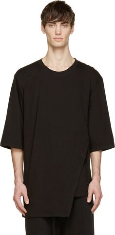 D by D Black Angled Buckle T-Shirt