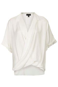 Casual Drape Front Blouse - Topshop