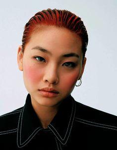 Face. Hair. Pose. Portrait. Female. Jung ho yeon for vogue japan