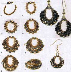 lacy beaded earring - free tutorial, DIY