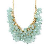 Mint Green Gems Statement Necklace