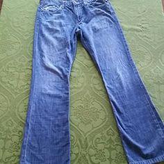 """Joe's jeans distressed Rocker style 100% cotton Joe's jeans.  Model is Rocker 16"""" across the top and 32 1/2"""" inseam.  Mild fraying on hemline shown in pic. Joe's Jeans Jeans"""