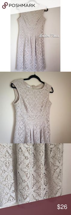 Cream Crochet Dress NWOT London Times Dresses