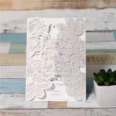 Jaclina - Lace Pocket Laser cut invitation
