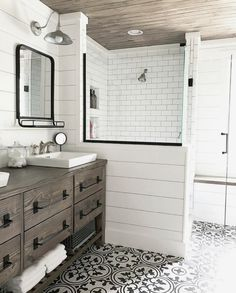 Looking for for pictures for farmhouse bathroom? Browse around this website for amazing farmhouse bathroom images. This specific farmhouse bathroom ideas looks absolutely wonderful. Bad Inspiration, Bathroom Inspiration, Bathroom Ideas, Bathroom Updates, Budget Bathroom, Bathroom Vanities, Bath Ideas, Bathroom Organization, Dresser Vanity Bathroom