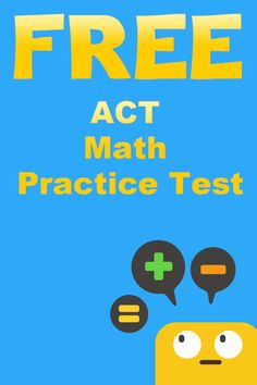 Get our ACT Math Practice Test questions. Learn more about the ACT Math test. Math Tutor, Math Test, Teaching Math, Act Math Practice, Act Test Prep, College Test, Sat Math, College Planning, Math Practices