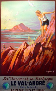 Vintage Travel Poster - France - Brittany 1920 #Bretagne #brittany #France #tourism