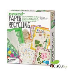 Sabes como se hace el papel reciclado? Apréndelo con este kit y fabrica tus propios papeles únicos http://ift.tt/2s1lVd6 #cucutoys #4m #juguetes #niños #manualidades #eco #ecologia #reciclaje #papel #kids #kit #toys