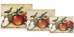 Magic Slice Non-Slip Flexible Gourmet/Chef/Party Size Cutting Boards, Apples and Warblers by David Carter Brown by Microthin Products Inc.. $26.71. Non-Slip Safe - will not slide on your counter.. Protects your counters- wine, oils, juices and odors can't penetrate surface.. Kitchen Fashion - Great for cutting salads, fruits and vegetables. Thin, lightweight and easy to store.. Anitbacterial construction using tricloban. Just rinse with soap and warm water to clean.. ...