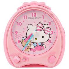37967e92c4 Hello Kitty alarm clock talking Sanrio entering a kindergarten entrance to  school support series black cat