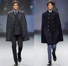 The Emperor 1688 2014-2015 Fall Autumn Winter Mens Runway Show - Mens Capes!