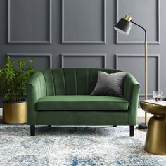 Looking for Modway Prospect Channel Tufted Upholstered Velvet Loveseat, Emerald ? Check out our picks for the Modway Prospect Channel Tufted Upholstered Velvet Loveseat, Emerald from the popular stores - all in one. Couches, Velvet Tufted Sofa, Green Velvet Armchair, Upholstered Sofa, Green Sofa, Fabric Armchairs, Modern Lounge, Comfortable Sofa, Living Room Decor