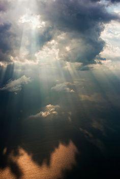 breaking through #clouds #sky