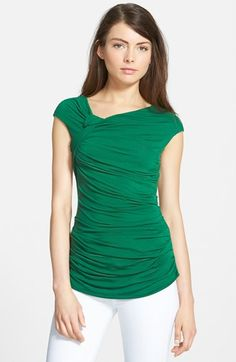 Bailey 44 'Teorema' Ruched Cap Sleeve Top available at #Nordstrom