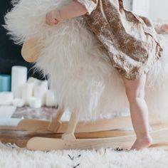 Rocking sheep - white White  Danish Crafts