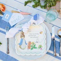 <p>We love the darling illustrations, bunny decorations, and the farm fresh menu.</p>