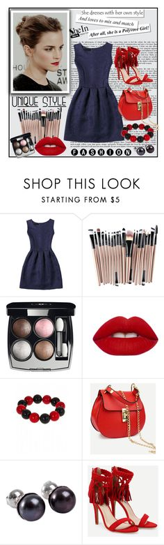 """""""Shein 1/VI"""" by merima-p ❤ liked on Polyvore featuring Emma Watson, WithChic, Chanel, Lime Crime, Fornash and NOVICA"""