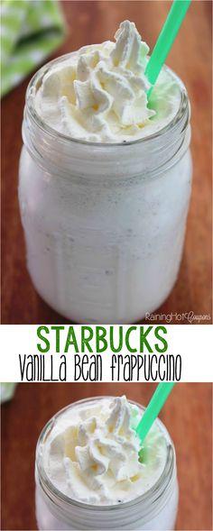 Copycat Starbucks Vanilla Bean Frappuccino