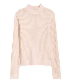H&M Rib-Knit Sweater $20 :: Long-sleeved mock turtleneck sweater in a soft rib knit. Slightly wider cut.