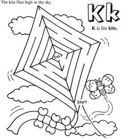 K is for Kite simple maze: inkspired musings: Late Summer Picnics