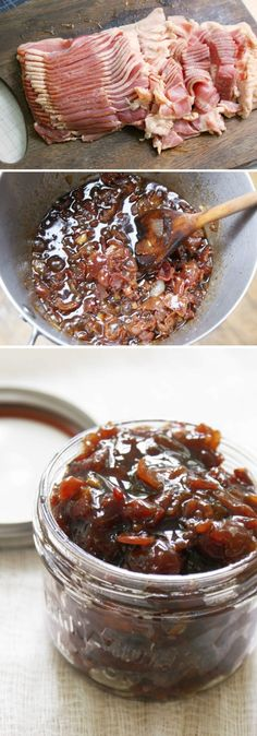 Bacon Jam ~ Yes, you read that right ;) This dangerously delicious condiment is perfect for spreading on a burger, sandwich, cracker, toast, or slice of cheese. Wow, it looks so good!