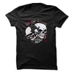 Skull t-shirt - Skull with helmet