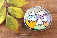 Hey, I found this really awesome Etsy listing at https://www.etsy.com/listing/231096689/mountain-painted-rock-medium-hand