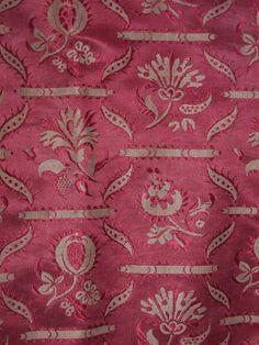 1770-80 Fabric: Figured Silk, Pink. manchestergalleries.org