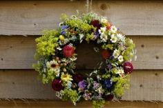 Fresh British Summer Flower Wreath British Wedding, British Summer, Summer Flowers, Wedding Flowers, Floral Wreath, Wreaths, Fresh, Home Decor, Floral Crown
