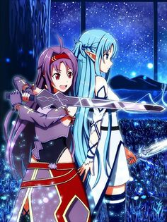 Yuuki (Konno Yuuki) & Asuna (Yuuki Asuna) - By Sword Art Online ღ