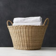 Wicker Laundry Basket in Bath Accessories | Crate and Barrel