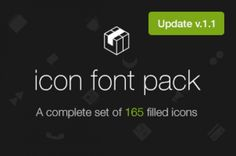 A custom @ font-face icon font with scalable vector icons. This is a complete set of 165 filled icons inspired by iOS...