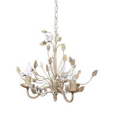Golden Vines Metal Chandelier with Glass Birds | dotandbo.com