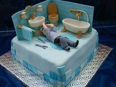 Bathroom Cake - Cake by Sandy's Cakes - Torten mit Flair Cupcakes, Cake Cookies, Cupcake Cakes, Cakes For Men, Just Cakes, Creative Cakes, Unique Cakes, Beautiful Cakes, Amazing Cakes