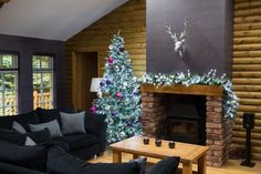 The Nordman Forest Lodge at Christmas
