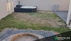 This is a before picture taken of a sad looking garden before it was replaced with Synsport Synthetic Lawn. Visit our website today for more details and to get a quote: