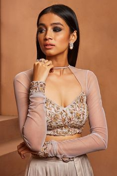 We are providing Custom Made designer Piece with Customers Specific Requirement and Custom Made Stitching also available. Buy this exclusive designer Collection at Affordable price from Indian Designer Outfits, Indian Outfits, Emo Outfits, Lehenga Designs, Saree Blouse Designs, Grey Blouse, Drape Blouse, Work Blouse, Indian Wedding Gowns
