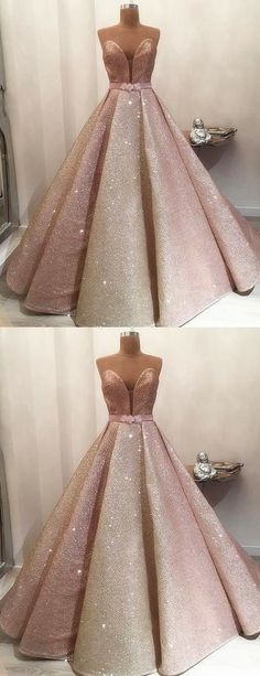 Gorgeous Shiny Rose Gold Satin Strapless Ball Gown Prom Dresses, Shop plus-sized prom dresses for curvy figures and plus-size party dresses. Ball gowns for prom in plus sizes and short plus-sized prom dresses for Rose Gold Party Dress, Rose Gold Gown, Gold Prom Dresses, Lace Evening Dresses, Dresses Uk, Ball Dresses, Evening Gowns, Rose Gold Quinceanera Dresses, Quince Dresses