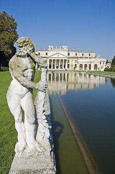 Pool Of Villa Pisani By Architect Andrea Palladio In Stra', On The Riviera Del Brenta, Veneto, Italy