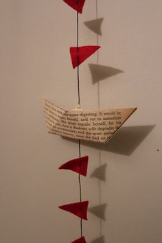Lovely little sailing boats garland (bunting). $14.00, via Etsy.