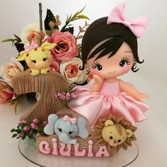 1 million+ Stunning Free Images to Use Anywhere Happy Birthday Cake Images, 1st Birthday Cakes, Cute Polymer Clay, Polymer Clay Dolls, Crochet Toys Patterns, Stuffed Toys Patterns, Fairy Crafts, Diy And Crafts, Cute Cartoon Characters