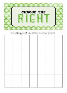 LDS Activity Day Ideas - Scripture Chart and great activites