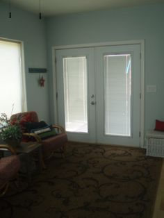 """new porch with """"french grey"""" paint!"""