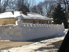Neighbor decided to put a fort around their house - Imgur