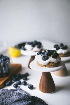 Vegan Blueberry Shortcakes w/ Lemon Cream by Faring Well