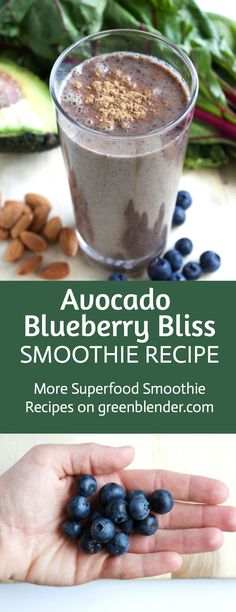 Avocado Blueberry Bliss Smoothie Recipe by Green Blender