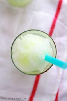 Frozen Lemonade Slushies by laurenslatest: So easy! #Slushies #Lemonade